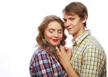 bel étreindre heureux de couples Image stock