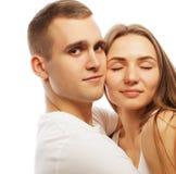bel étreindre heureux de couples Images stock