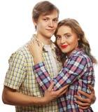 bel étreindre heureux de couples Photos stock