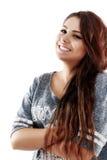 Bel adolescent posant avec une image positive Photos stock