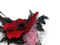 Bel affichage abstrait de fleur contre le blanc Image stock