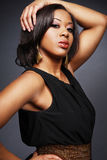 Bel Afro-Américain girl.3. Photos stock