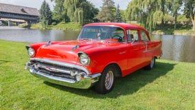 1955年薛佛列汽车Bel Air 免版税库存照片