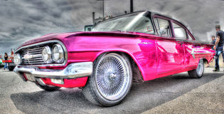 1960 Bel Aire cor-de-rosa Imagens de Stock