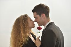 Bel amour de couples Photos stock