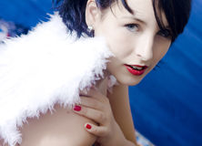 Bel ange de femme Photos stock