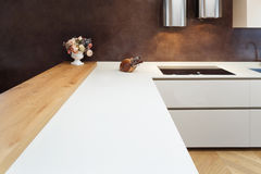 Bel appartement meublé, cuisine Images libres de droits