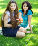 Bel apprécier de mère et de descendant Photo libre de droits