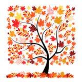 Bel arbre d'automne pour votre conception Photo libre de droits