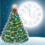 Bel arbre de Noël ENV 10 Photos libres de droits