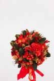 Bel arbre de Noël sur le fond blanc Photos libres de droits