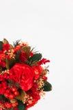Bel arbre de Noël sur le fond blanc Photo libre de droits