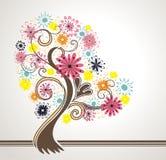 Bel arbre fleurissant. Image stock