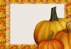 Bel Autumn Background Card avec des potirons dans des couleurs chaudes Images stock