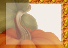 Bel Autumn Background Card avec des potirons dans des couleurs chaudes Images libres de droits