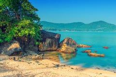 Bel endroit reculé dans une lagune tropicale photos stock