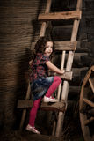 Bel enfant à la ferme Image stock