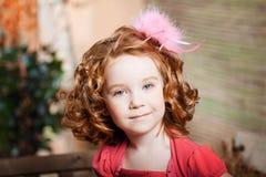 Bel enfant à la ferme photo stock