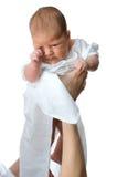 bel enfant en bas âge de mère de main Images stock
