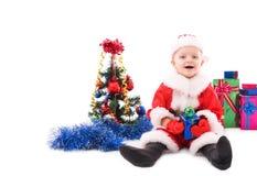 Bel enfant en bas âge Santa Photos libres de droits