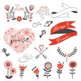 Bel ensemble d'amour Image stock