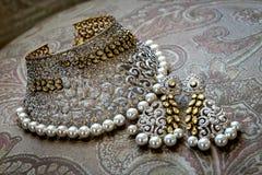 Bel ensemble de women& x27 ; accessoires de mariage de s Photo libre de droits