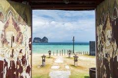 Bel entrace de station de vacances Krabi, Thaïlande Image stock