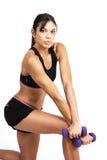 Bel exercice de femme de brunette Photo stock