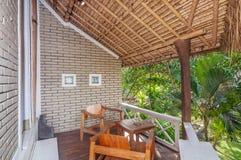 Bel hôtel de villa de jardin de terrasse Image libre de droits