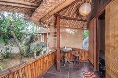 Bel hôtel de villa de jardin de terrasse Photo stock