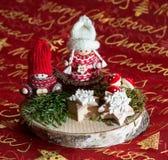 Bel hiver Childs de décoration de Noël Photos libres de droits