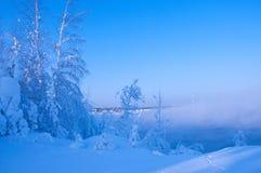 Bel hiver neigeux en Russie Photographie stock libre de droits