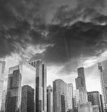 Bel horizon des bâtiments de Chicago et des gratte-ciel, l'Illinois Photographie stock libre de droits
