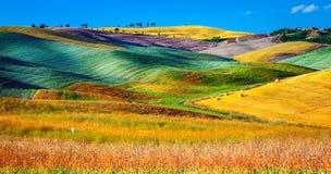 Bel horizontal agricole Images libres de droits
