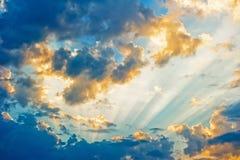 Bel horizontal céleste Photographie stock libre de droits