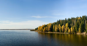 Bel horizontal d'automne. Image stock