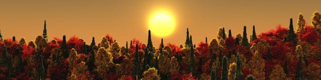 Bel horizontal d'automne images stock