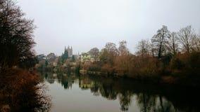 Bel horizontal de fleuve images stock