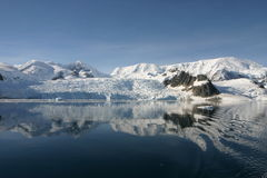 Bel horizontal de l'Antarctique Image libre de droits