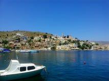 bel horizontal de la Grèce Photographie stock