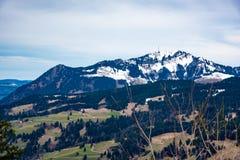 Bel horizontal de montagne Images libres de droits