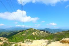 Bel horizontal de montagnes Images libres de droits