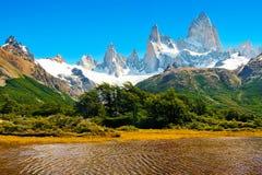 Bel horizontal de nature dans le Patagonia, Argentine Images stock