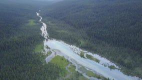 Bel horizontal en stationnement national de Banff, Alberta, Canada banque de vidéos
