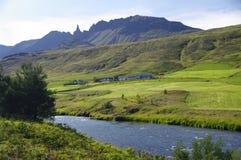 Bel horizontal près d'Akureyri, Islande Photo stock