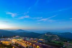 Bel horizontal sur la montagne Photos libres de droits
