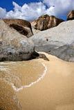 Bel horizontal sur une plage dans Tortola Photos libres de droits