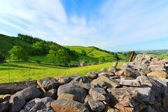 Bel horizontal, vallées de Yorkshire, Angleterre Photos libres de droits