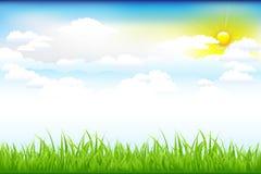 Bel horizontal vert avec Photographie stock libre de droits