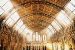 Bel intérieur d'une construction antique Photos libres de droits